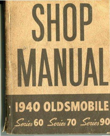 Complete 1940 Oldsmobile Shop Manual - The Old Car Manual ...