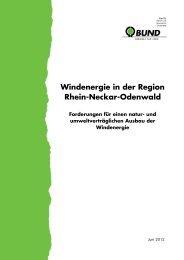 Windenergie in der Region Rhein-Neckar-Odenwald Forderungen ...