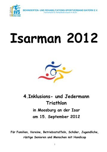 Isarmann 2012 4. Inklusions– und Jedermann Triathlon