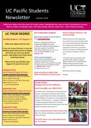 UC Pacific Students Newsletter - Pacific Health Voices