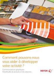 Portefeuille des systèmes de production (PDF) - Xerox
