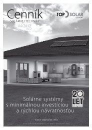 solárne systémy s minimálnou investíciou a rýchlou návratnosťou