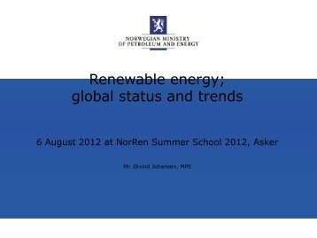 Renewable energy - NorRen