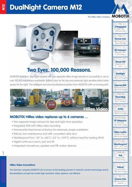 Mobotix M12D-SEC-DNight-D135N135 DualNight Camera     - Use-IP