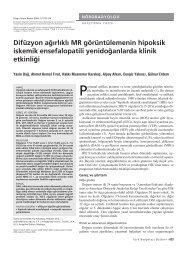 Perinatal asfiksi, preterm ve term yenidoğanlarda görülen nörolo