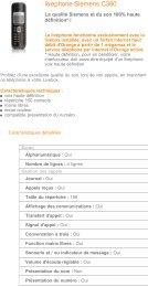 Livephone voix HD Siemens C380 - Téléphones - Fixe ... - Hacavie
