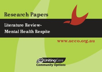 Literature Review Mental Health Respite (PDF) - UnitingCare ...