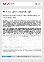 Modernes Garen in neuem Design - Sharp