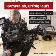 Kamera ab, Erfolg läuft. Film, Videos, Clips, TV.