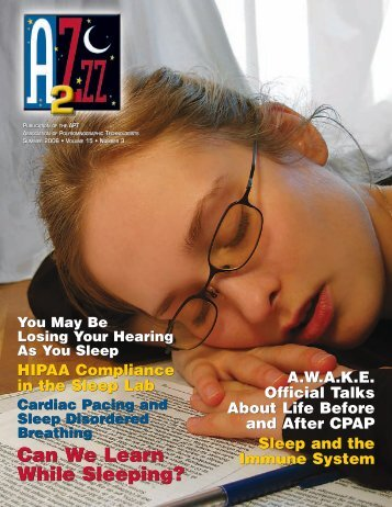 Sleep - American Association of Sleep Technologists