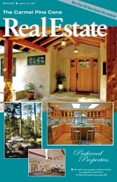 Carmel Pine Cone, April 6, 2007 (real estate) - The Carmel Pine Cone