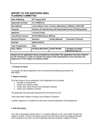 11.04069 - Land at Manor Farm , item 80c PDF ... - Wiltshire Council
