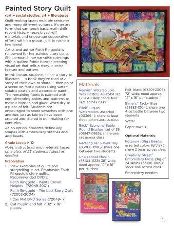 Painted Story Quilt - Dick Blick - Dick Blick Art Materials
