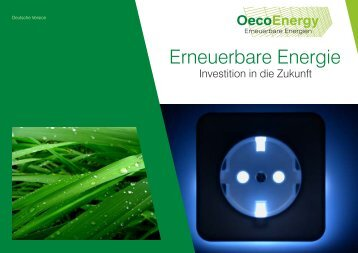 Investition in die Zukunft - Oecoenergy