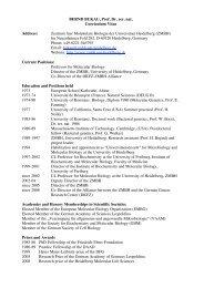 BERND BUKAU, Prof. Dr. rer. nat. Curriculum Vitae Address ... - ZMBH