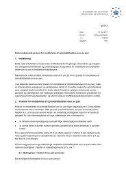 Notat vedrørende praksis for meddelelse af ... - Ny i Danmark