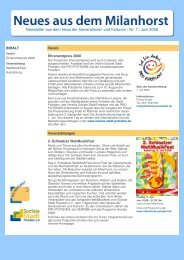 Newsletter Milanhorst 07/08 - Soziale Stadt Potsdam e.V.