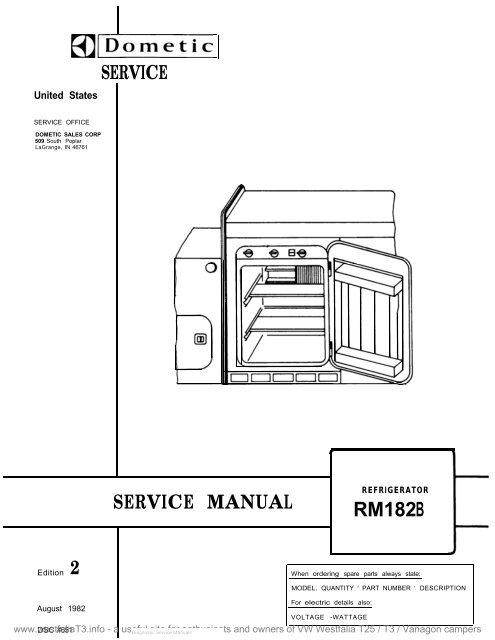 Rm182b Service Manual Westfalia T25 T3 Vanagon Info Site