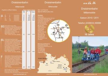 100608 - BroschüreKMT.indd - Draisinenbahn Mittenwalde