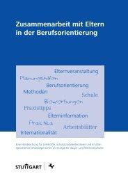 Arbeitsblätter für Eltern deutsch - Perspektive Berufsabschluss
