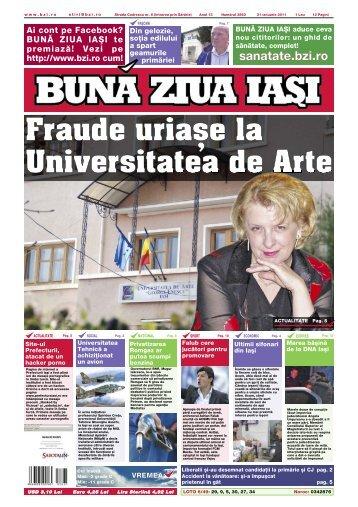 Fraude uria[e la Universitatea de Arte - Buna Ziua Iasi