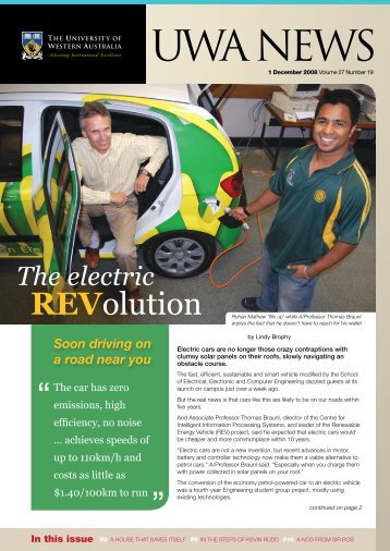 Issue 19. 1 December 2008 - UWA Staff - The University of Western ...