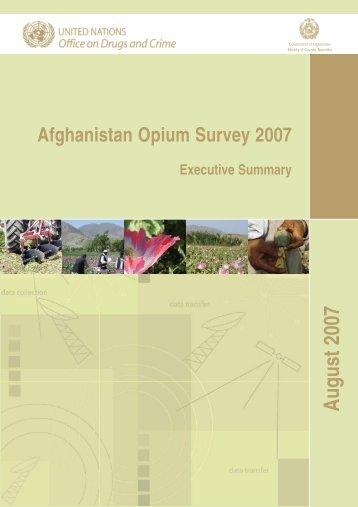 Afghanistan Opium Survey 2007 - United Nations Office on Drugs ...