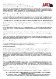Datenschutzerklärung und Datenschutzhinweise ... - ARLT Computer