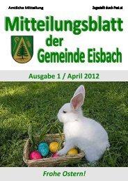 Ausgabe 1 / April 2012 Frohe Ostern! - Gemeinde Eisbach