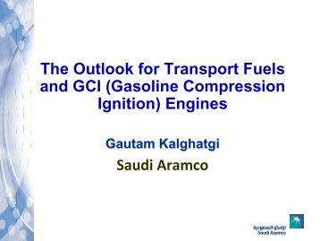 Gasoline Compression Ignition (GCI) - Engine Research Center