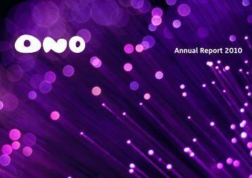 Annual Report 2010 - Ono