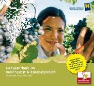 Genussurlaub im Weinherbst Niederösterreich