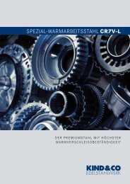 spezial-warmarbeitsstahl cr7v-l - Kind & Co., Edelstahlwerk, KG