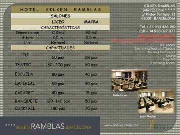 Ficha Técnica Salones (pdf) - Hoteles Silken