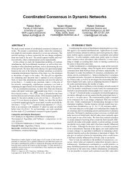Coordinated Consensus in Dynamic Networks - Algorithms and ...
