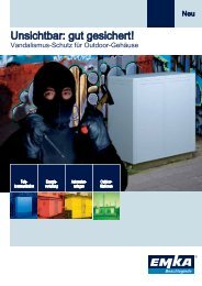 Vandalismus-Schutz für Outdoor-Gehäuse - EMKA Beschlagteile