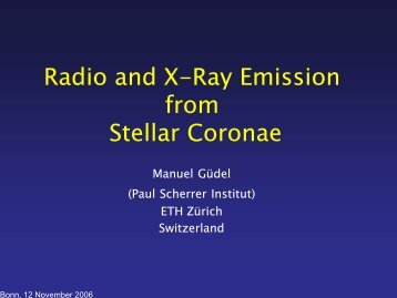 Radio and X-Ray Emission from Stellar Coronae