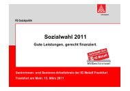 Sozialwahl 2011 - IG Metall - Wiesbaden - Limburg