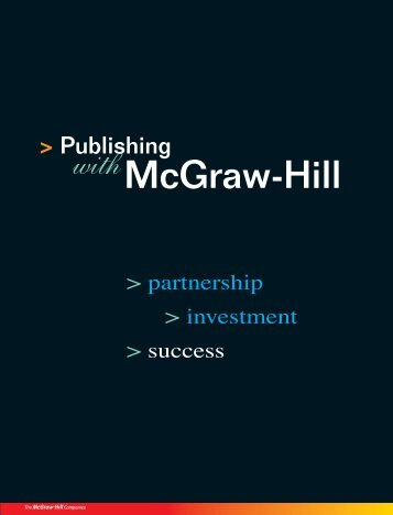 publishing set-up and services - McGraw-Hill Books