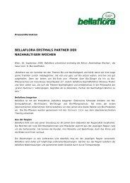 bellaflora erstmals partner der nachhaltigen wochen