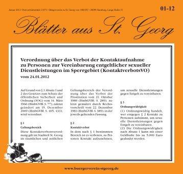 Verordnung über das Verbot der ... - Bürgerverein St. Georg
