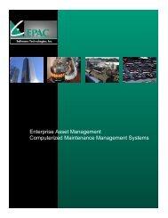 Brochure from EPAC Software Technologies Inc. - NFMT