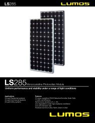 LS285Monocrystalline Photovoltaic Module - the Solar Panel Store