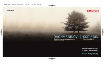 RACHMANINOV | SCRIABIN - Chandos