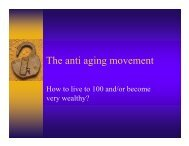 The anti aging movement
