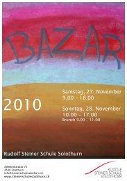 Samstag, 27. November 9.00 – 18.00 Sonntag, 28. November 10.00 ...