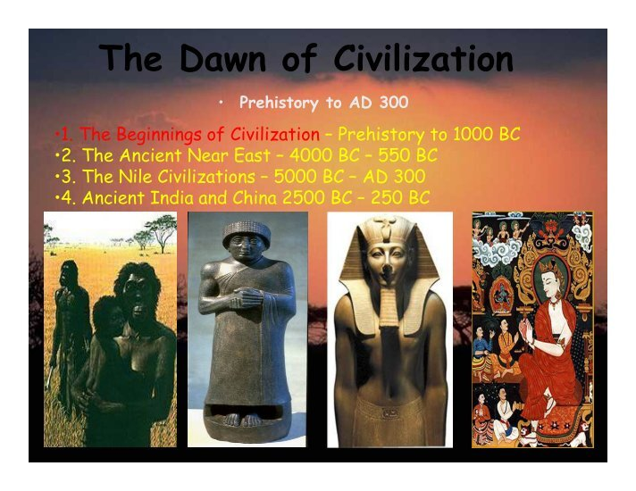 the beginning of civilization essay The first light of chinese civilization revealed itself 7,000 to 8,000 years ago which marked the beginning of the chinese nation.