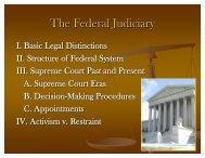 The Federal Judiciary - Rose-Hulman