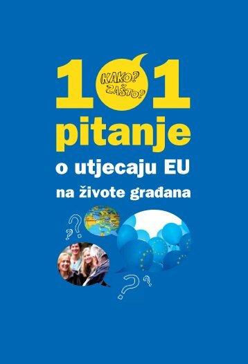 101 pitanje o utjecaju EU na živote građana