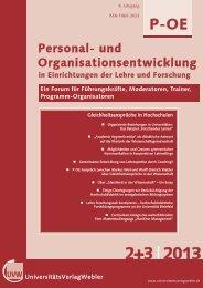 Personal- und Organisationsentwicklung - UniversitätsVerlagWebler